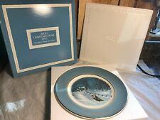Vintage 1976 Avon Christmas Collector Plates ~ Bringing Home the Tree w/Box