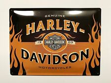 Harley-Davidson Genuine Motorcycles - Tin Metal Wall Sign