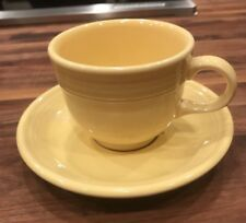 Vintage Fiesta Dinnerware Pale Pastel YELLOW Cup And Saucer Excellent Condition