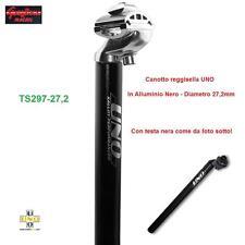 TS297- CANOTTO/TUBO REGGISELLA UNO ALL. NERO 27,2mm PER BICI 20/24/26 PIEGHEVOLE
