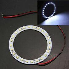 2x 12V 80mm Bright White 24 SMD LED Ring Angel Eyes Car Light