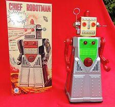 Grand Robot en tole sérigraphiée. CHIEF ROBOTMAN. Hauteur 33 cm. NEUF