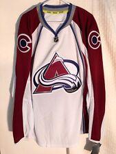 Reebok Authentic NHL Jersey Colorado Avalanche Team White sz 60
