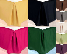 VERSATIL PLAIN DUST RUFFLE AROUND ALL CORNERS 1PC BED BEDDING REGULAR SKIRT 14""