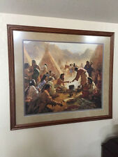 """Howard Terpning's MINT-Hand Signed Limited Ed. """"Old Country Buffet"""" # 54 of 1850"""