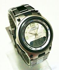Casio Moon Phase Fishing Timer Alarms Analog-Digital Quartz Mens Watch AW-82D-7A