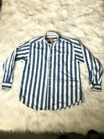 Vintage Woolrich Men's Size Large Striped Shirt Button Down Long Sleeve