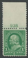 US Scott #279 Mint OG NH VF-XF 1c Franklin Top Plate Number Single