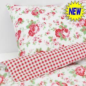 Valdern Rosali Single Duvet Quilt Cover Set Bedding Rose Floral Kidston Pattern