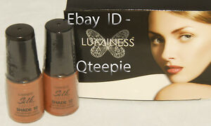 LUMINESS AIR - Airbrush Makeup 2 pc FAIR Shade #10 & #12 SILK Foundation SET NEW