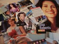 Bon Jovi, Mariah Carey, Tom Cruise - Zeitungsausschnitte, Aufkleber für Fans!!