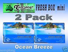 2 Pack Treefrog Fresh Box Mini OCEAN BREEZE Scent Car Air Freshener-JDM Product