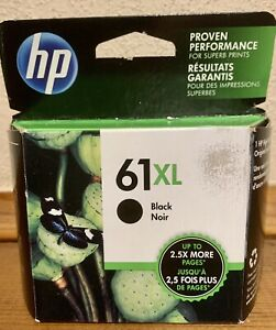 HP 61XL Black Ink Genuine Cartridge Exp 2019 High Yield 61 XL