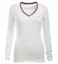 Tommy Hilfiger Damen Langarm Shirt Longsleeve weiß Größe XL