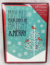C.R. GIBSON Markings 18 CLASSIC Holiday Cards ENVELOPES Christmas BRIGHT
