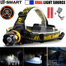 6000Lm 2 Source CREE XM-L T6 LED Headlamp Headlight Head Torch 18650   Charger