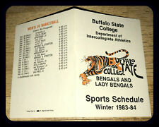 1983-84 BUFFALO STATE COLLEGE WINTER SPORTS POCKET SCHEDULE FREE SHIPPING