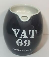 Vat 69 1863-1963 National Distillery Black Pitcher empty Whiskies Scotch bottle