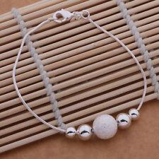 New silver fashion cute women hot bead Bracelet Jewelry wedding noble gift girl