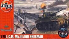 Airfix - LCM mk.iii LANDING CRAFT Sherman M4A2 1:76 72 Kit Construcción