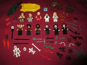 LEGO Indiana Jones Minifigures Lot,Temple Of Doom ,  Lot,Weapons ,11 Figures