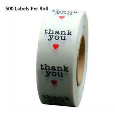 500pcs/roll Thank You Transparent Stickers Tags Gift Packaging Seal Labels Decor
