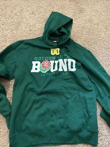 Adidas University Of Oregon Ducks Rose Bowl Bound Hoodie Hooded Sweatshirt Small