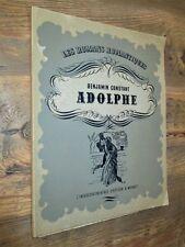 ADOLPHE de Benjamin Constant- Illustré par Marcel Chapuis.