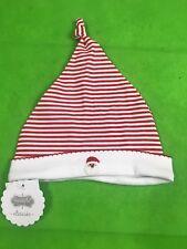 Mud pie Baby Infant Newborn 1st Christmas Santa Cap Hat Red White Stripe Unisex