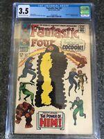 Fantastic Four #67 CGC 3.5 Origin 1st App Him Warlock in Cameo