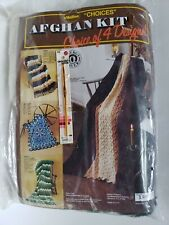 "Malina Afghan Kit ""Choices"" Choice of 4 Designs New and Sealed"