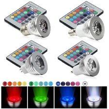 GU10/E27/MR16/E14 3W RGB LED Lampe Spot Birne Farbwechsel IR Fernbedienung Licht