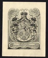 16)Nr.057- EXLIBRIS- Heraldik / heraldry - Fürst von Donnersmarck - Ernst Krahl