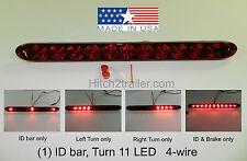 TecNiq Red HI Mount Center Brake Turn ID Bar 11 LED Light Trailer Truck USA