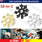 18 In 1 Stainless Tool  Portable Snowflake Shape Key Chain Screwdriver AU