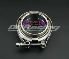6'' Inch V Band Clamp Turbo Exhaust Downpipe Stainless Steel 304 With 2Flange