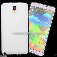 White Slim Matte GEL Soft Case Cover For Samsung Galaxy Note 3 AU