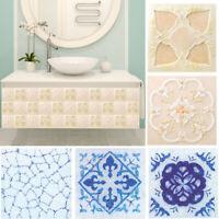 18PCS Waterproof Self-Adhesive PVC Tiles Sticker Bathroom Wall Decor 10*10cm