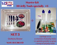 Starter Kit 3D Jelly Tools specially Type 3 - Gerbera flower - Gelatin art tools