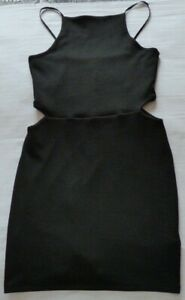 BLACK TOPSHOP DRESS WITH CUT-OUT SIDES SIZE 12