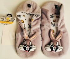 PRIMARK LADIES LOONEY TUNES BUGS BUNNY FOOTLETS SLIPPERS - Brand New