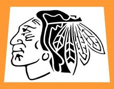 "NHL CHICAGO BLACKHAWKS INDIANHEAD LOGO STENCIL *FREE USA S&H* B-Hawks * 6"" x 6"""