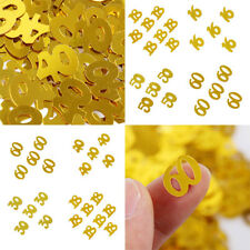 Hot Party Digital Table Decoration CONFETTI Sprinkles Decor All Ages Gold Color