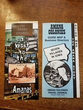 Vintage 70's  Amana Colonies Brochures Amana , IA Iowa German Heritage