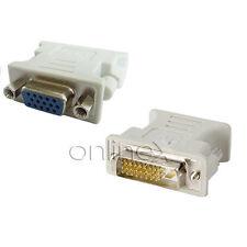 Adaptador VGA Hembra DVI-D Macho 24+1 Pines Color Blanco Alta Calidad a1525