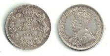 🍁 1930 Canada 10-cent King George V Silver Coin in Extra Fine Condition ~
