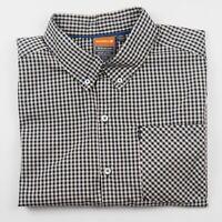 MERRELL Mens Shirt Size M Opti-Wick Short Sleeve Button Up Navy Check EUC