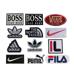 Popular Brand logo Patches Embroidered sew on iron on Patch transfer clothes