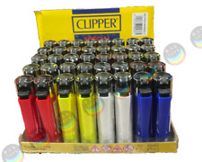 More details for genuine solid coloured clipper flint gas refillable lighters  full box