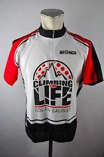Bio Racer Climbing for Life Bike cycling jersey maglia Rad Trikot Gr L 54cm Z26
